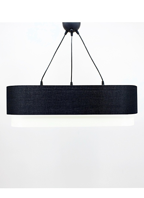 Crea Lighting Doubleshade Salon Sarkıt 70cm-3 Ampul Siyah